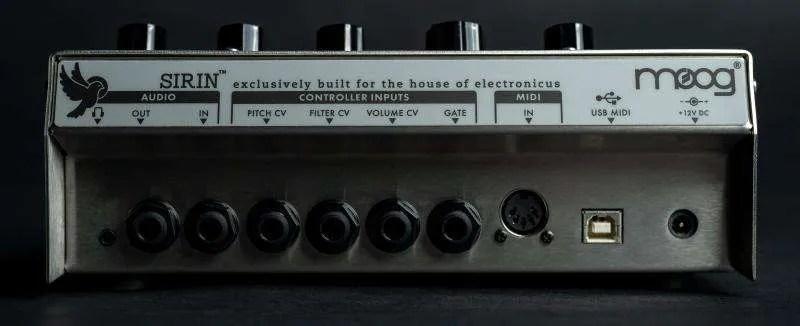 Moog Sirin - Il pannello posteriore