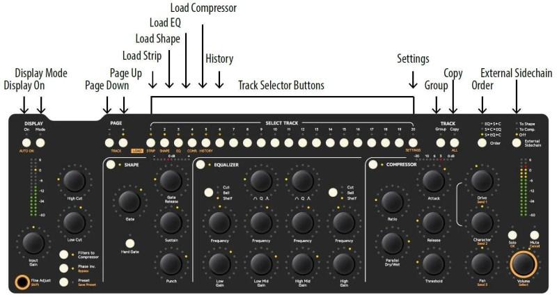Softube Concole 1 - i comandi del controller