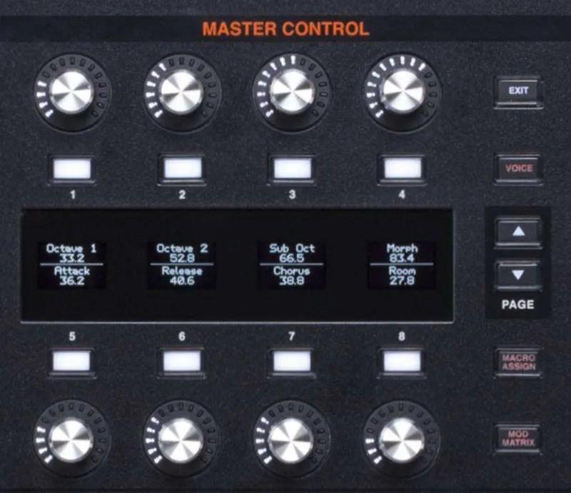ASM Hydrasynth - La sezione Master Control