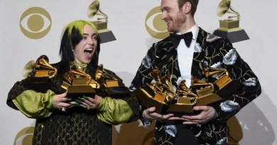 Billie Eilish and Finneas Grammy (AP)
