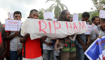 A protest in Jayapura in West Papua.