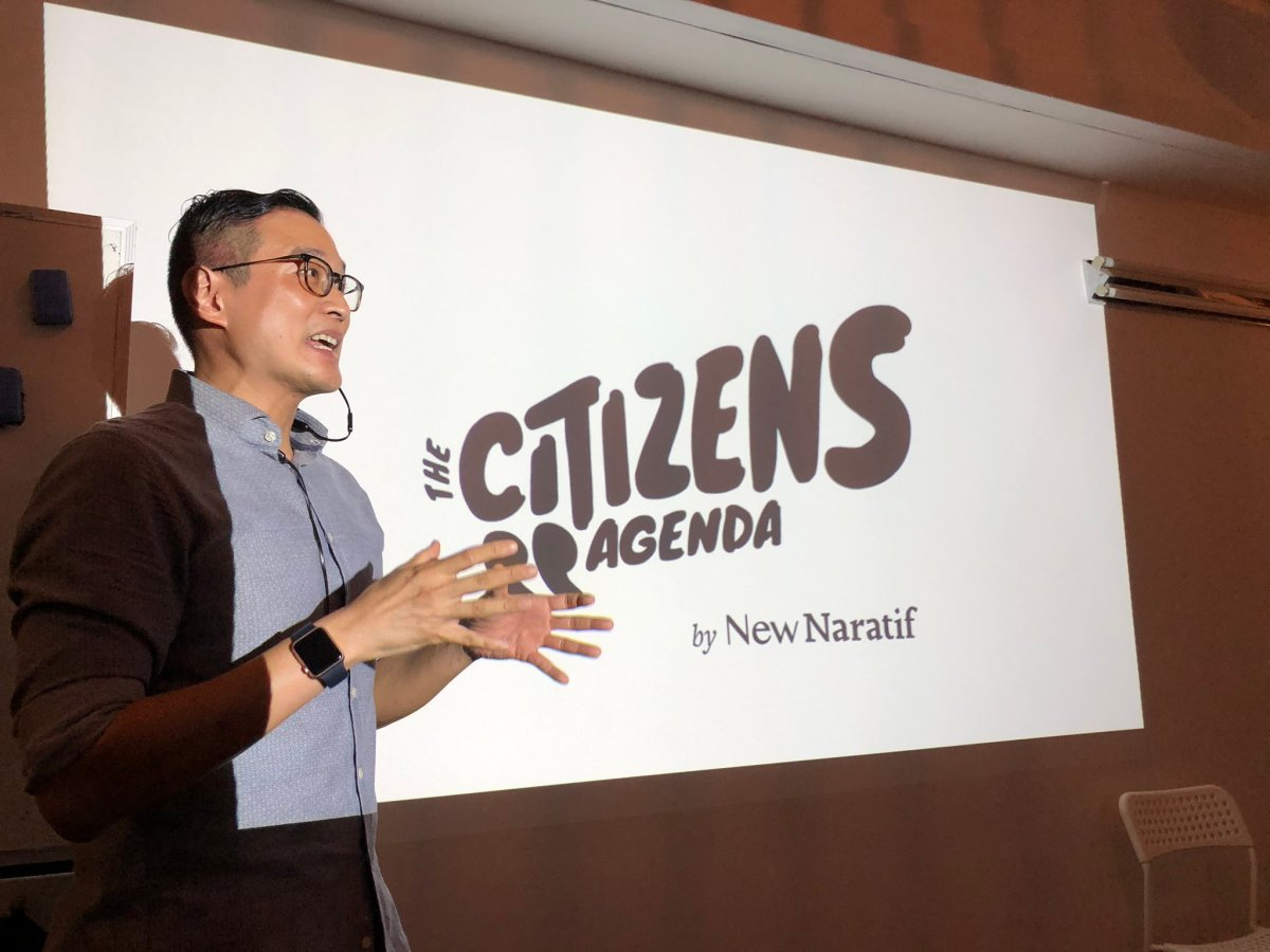 The Citizens Agenda launch - New Naratif