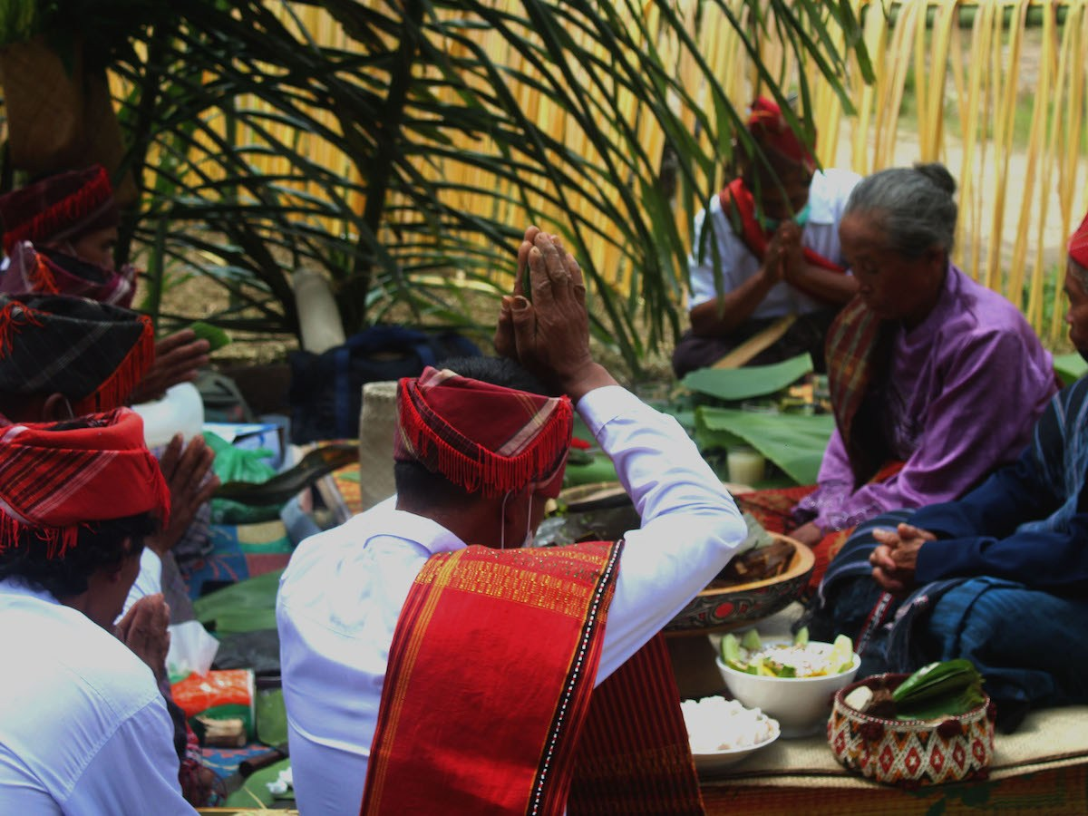 Indigenous Sihaporas people of North Sumatra in Indonesia participate in a traditional ritual in May 2021.