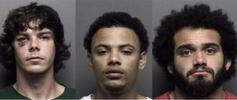 Alex Karcher, 22, Xavier McCray, 22, and Xavier Lewis