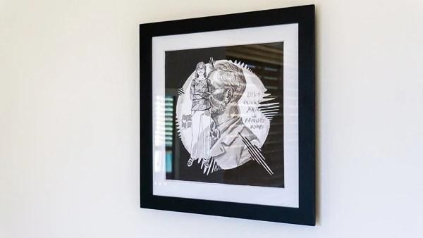 Donna Strickland Original Artwork - black frame