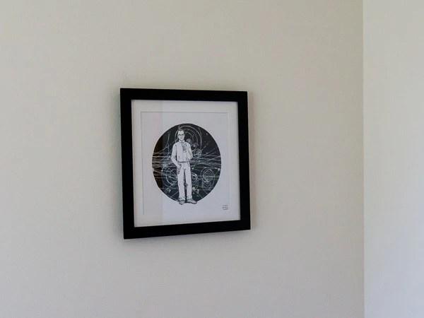 Donald Glaser Original Artwork - Black Frame