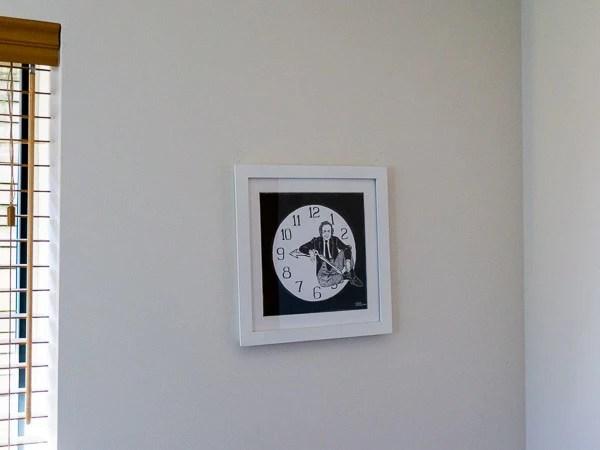 Richard Feynman Original Artwork - white frame