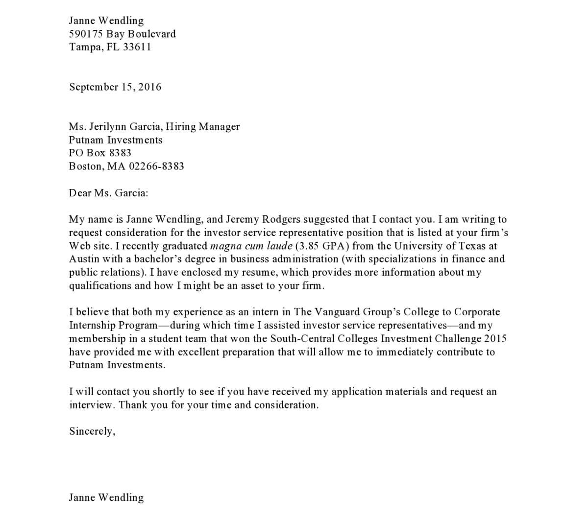 Cover Letter With Referral Is It Still Alive How To Write A Cover Letter To Grab Attention Of