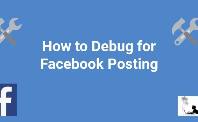 How To Debug For Facebook Posting Display Your Image