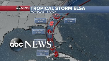 Tropical Storm Elsa nears south Florida