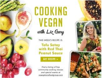 This Week: Tofu Satay with Red Thai Peanut Sauce