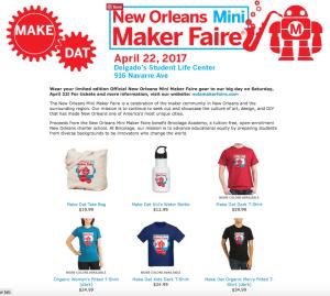 Shop at New Orleans Mini Maker Faire Depot