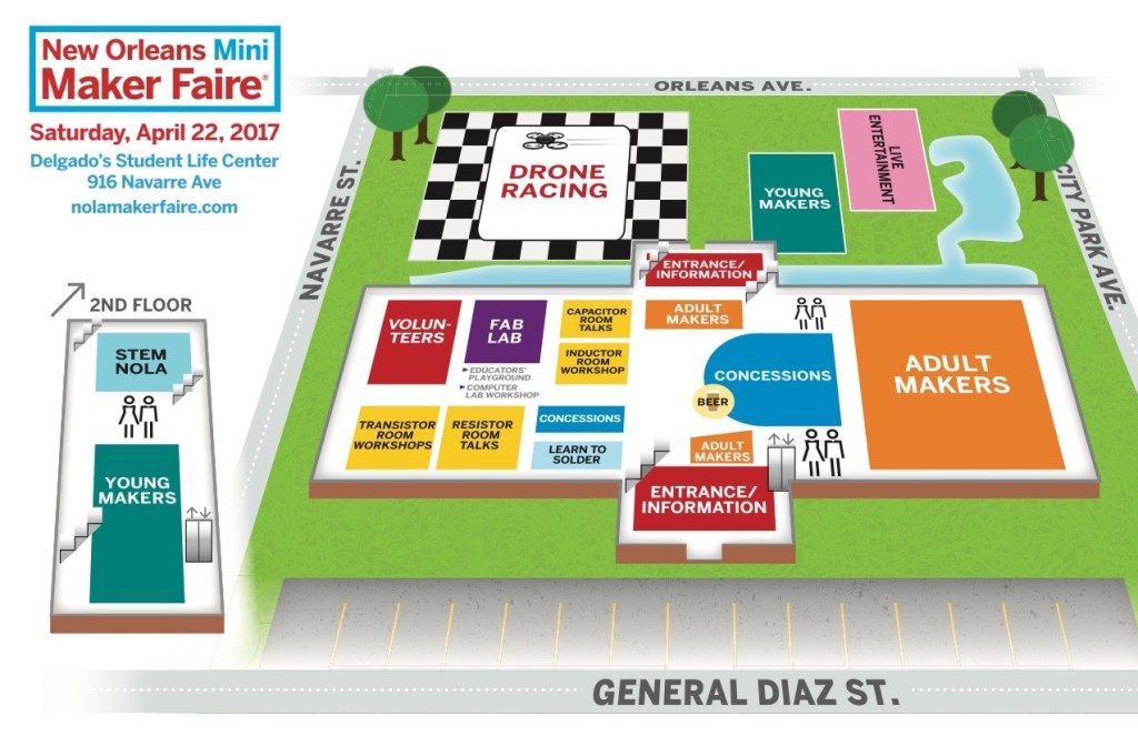 Schedule Map New Orleans Mini Maker Faire