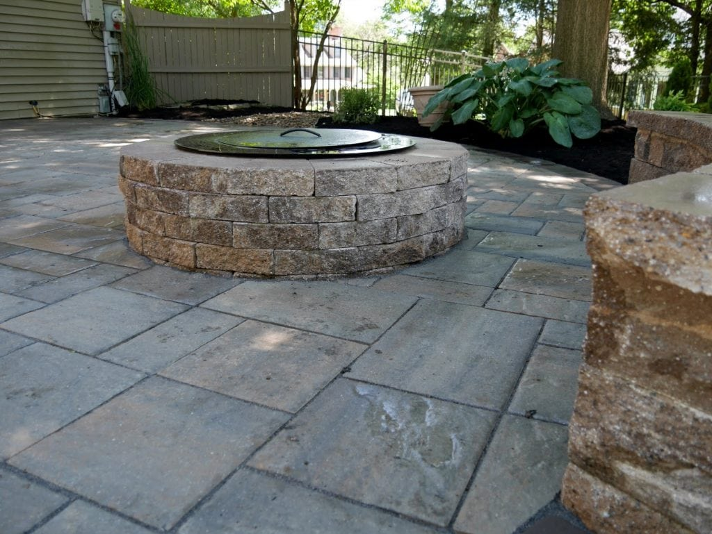 New Outlook Landscaping  Stone Patio Installation