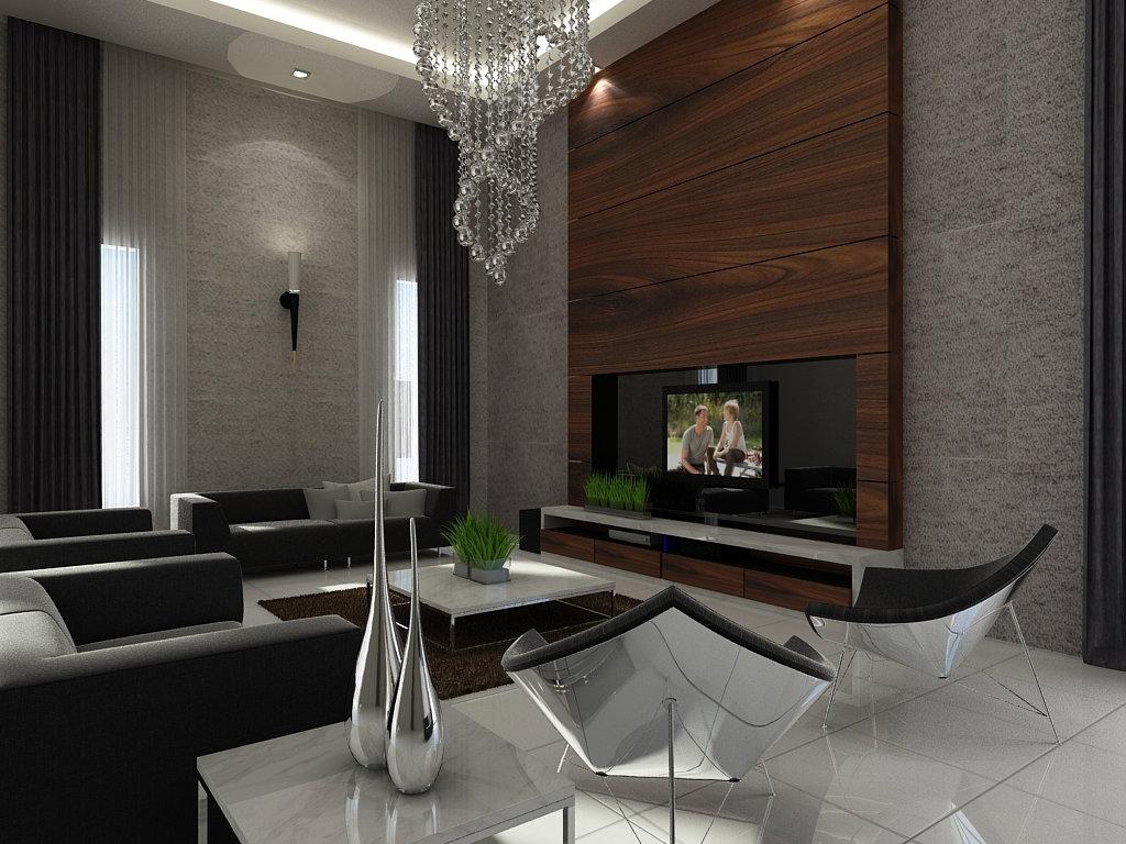 Tv Feature Wall Design Living Room Design JB Johor Bahru Design  Renovation Tv Feature Wall