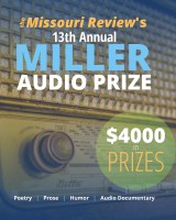 the Missouri Review 2020 Miller Audio flier