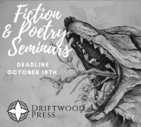 Driftwood Press Fall 2020 Virtual Fiction & Poetry Seminars banner