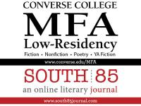 text banner for Converse College Low-Res MFA in creative writing & online literary magazine South 85