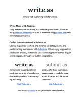 screenshot of Write.as February 2021 eLitPak Flier