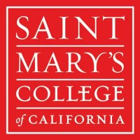 red background with Saint Mary's College of California in white