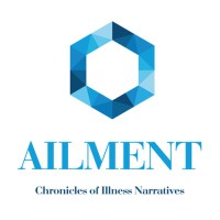 blue hexagon with Ailment written under it in capital letters