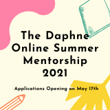 The Daphne Online Summer Mentorship 2021 banner