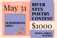 River Styx 2021 International Poetry Contest banner