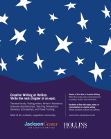 Screenshot of Jackson Center for Creative Writing's flier for the July 2021 NewPages eLitPak