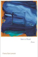 abstract painting of differing blue shades covering a wooden frame