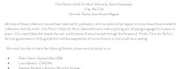 screenshot of Driftwood Press 2020 poetry collection results