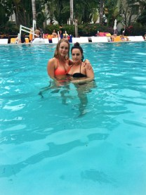 Elisa and Nora having a swim!
