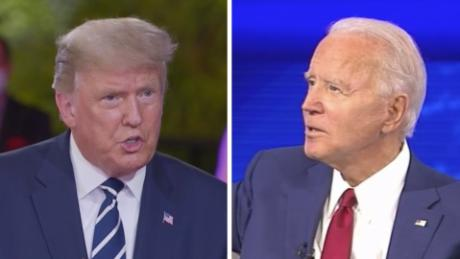 Trump and Biden and America's two, polarized political realities live on prime time