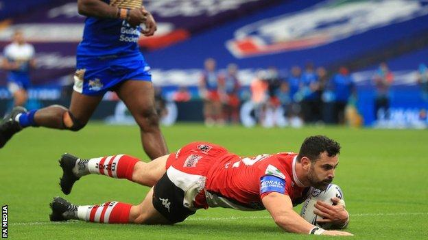 Rhys Williams' stunning try was Salford's highlight on their first trip to Wembley in 51 years