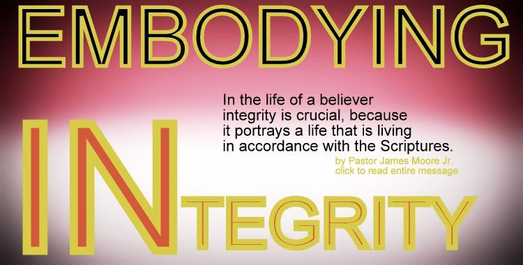 EMBODYING INTEGRITY