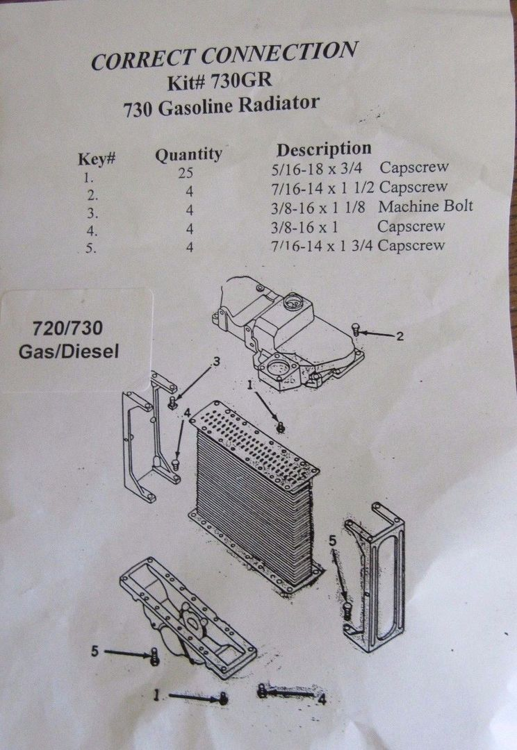 wiring diagram for 720 john deere tractor john deere 720 730 radiator bolt kit  john deere 720 730 radiator bolt kit