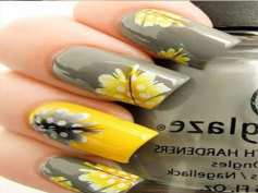summer-sunflowers-pretty-summer-nail-colors