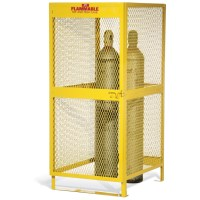 Steel Cylinder Storage Cabinet CAB360: lockable and low