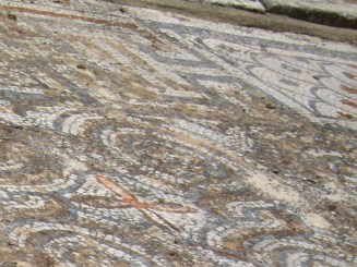 A few thousand years ago, somebody in Ephesus enjoyed this mosaic in the entrance hall of their home.