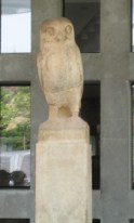 Some statues, like this little Athenian owl, stand alone