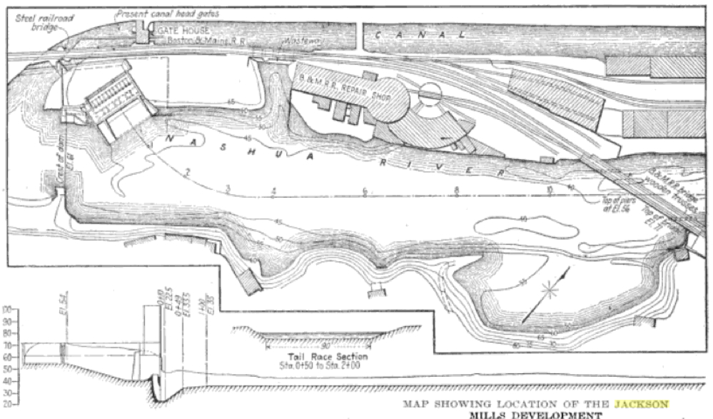 Early map of Jackson Mills development