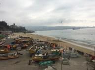 Fish market, Caleta Portales