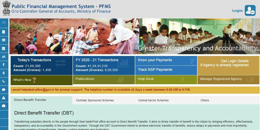 pfms scholarship 2020
