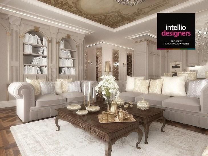 Fot. 2. W salonie w stylu pałacowym sztukateria jest niezbędnym elementem
