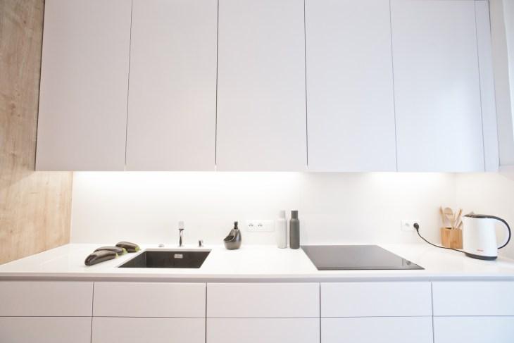 minimalistyczna kuchnia biała kuchnia