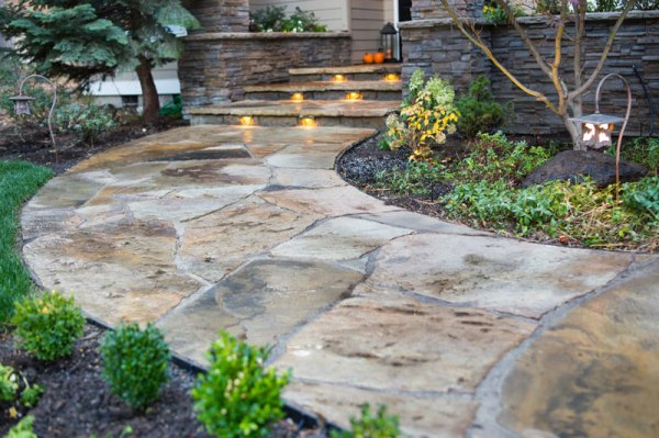 flagstone patio and walkway awbrey