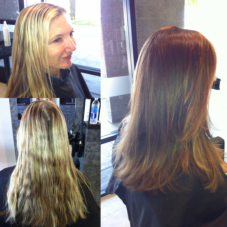 Newport Beach Hair Stylist Style Change Bright Blonde Foil