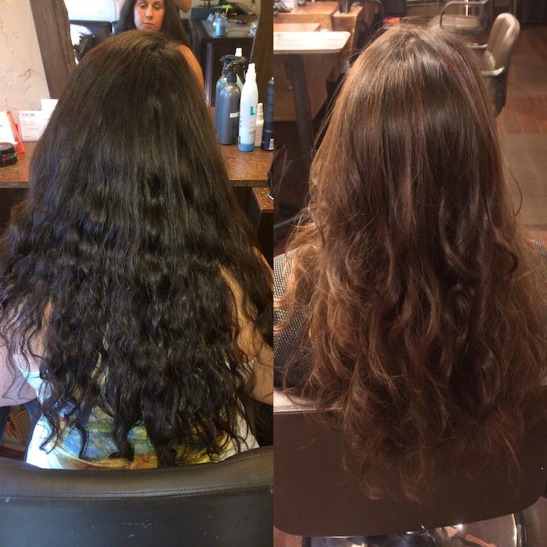 Newport Beach Hair Stylist Virgin Ash Brown Hair To Light War Brown