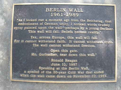 Image result for mr. gorbachev tear down this wall plaque