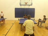 Ping pong match on Newport Beach Table Tennis Club