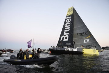 Team Brunel leg 7 Volvo Ocean Race Win